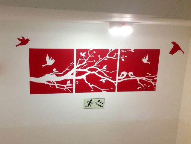 מדבקות קיר מעוצבות עבור המרכז האקדמי פרס