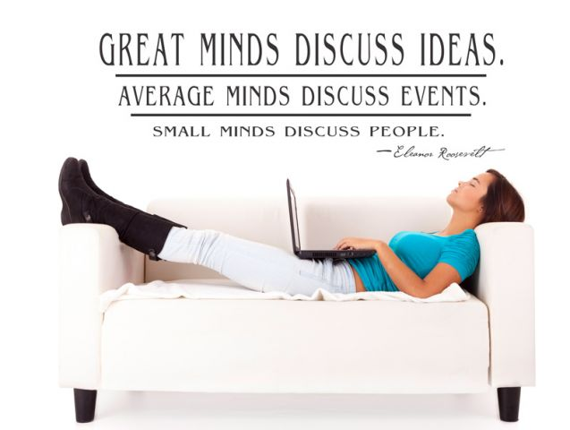 ...great minds discuss
