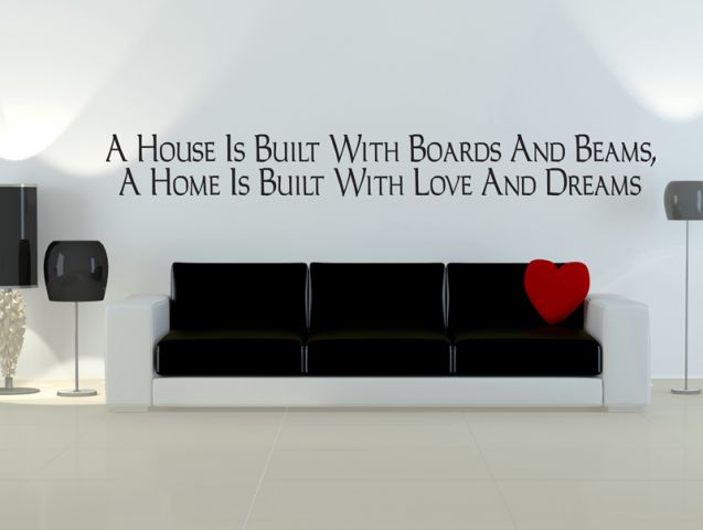 A house is built of walls and beams