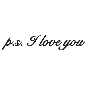 כיתוב ps: I love you
