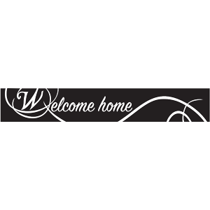 "מדבקת באנר ""welcome home"""